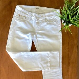 NWOT Hudson Ginny crop straight cuffed jeans